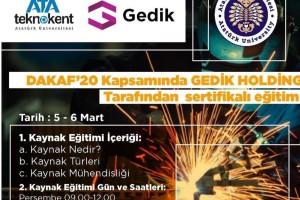 DAKAF'20 Kapsamında Gedik Holding Tarafından Sertifikalı Eğitim