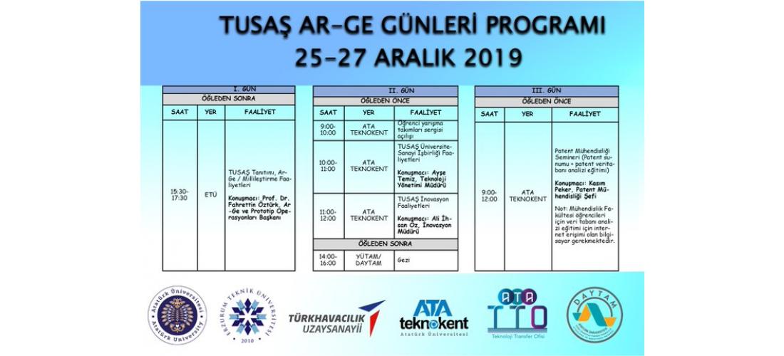 Tusaş Ar-Ge Günleri Atatürk Üniversitesi'nde