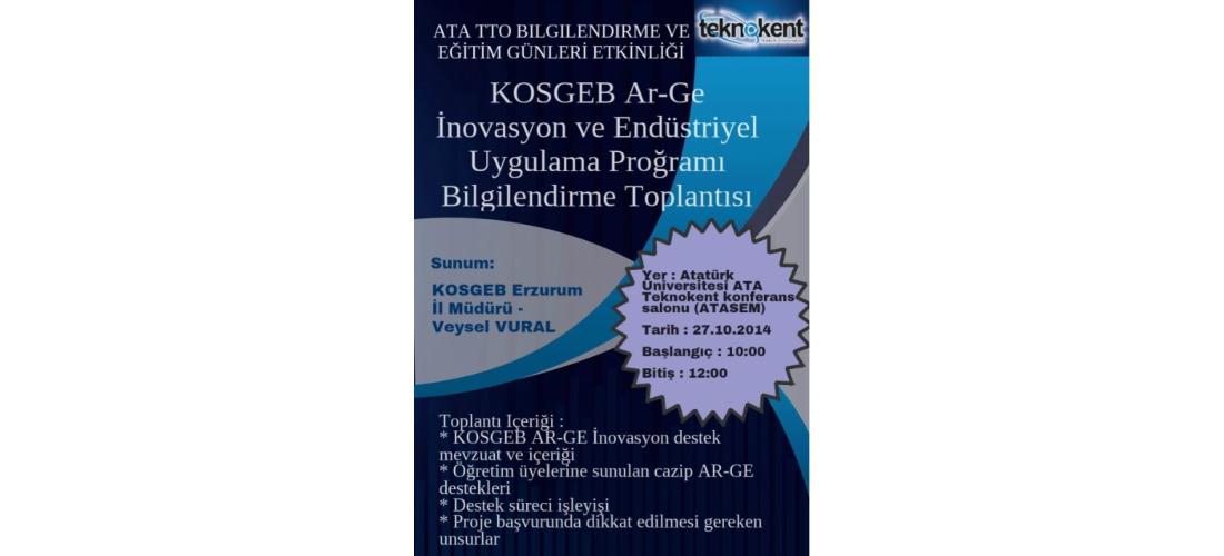 KOSGEB Ar-Ge İnovasyon Destekleri Tanıtıldı