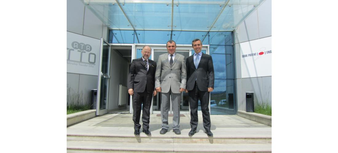 Eban Başkan ve Başkan Yardımcısı ATA Teknokent`i Ziyaret Etti