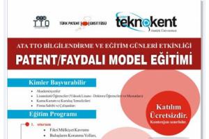 PATENT/FAYDALI MODEL EĞİTİMİ 19 MART'TA KATILIM ÜCRETSİZ