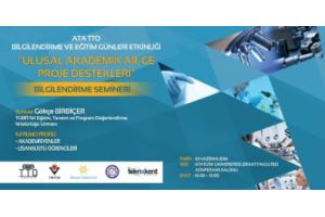 ATA TTO'dan Ulusal Akademik Ar-Ge Proje Destekleri Semineri