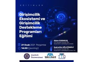 Girişimcilik Ekosistemi ve Girişimcilik Destekleme Programları Eğitimi