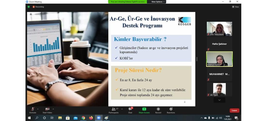 KOSGEB Destek Programları Bilgilendirme Etkinliği